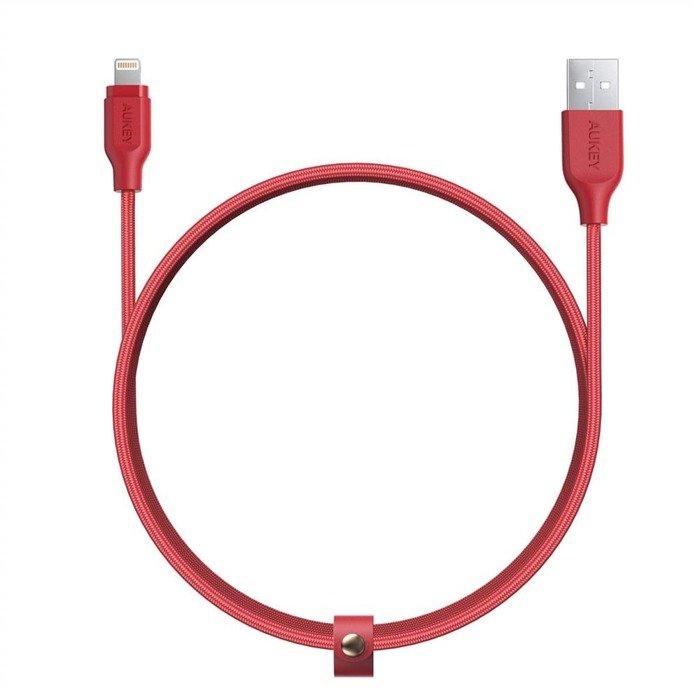 AUKEY CB-AL2 nylonowy kabel Ligtning QC 3.0 2m