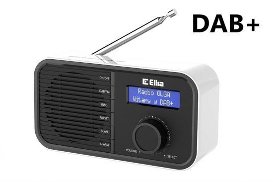 ELTRA Przenośne radio FM / RDS / DAB+ OLGA czarne