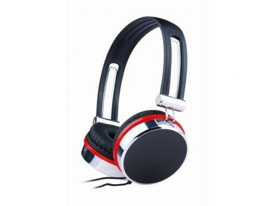 Gembird Audio słuchawki stereofoniczne MHP-903, czarno-srebrno-czerwone