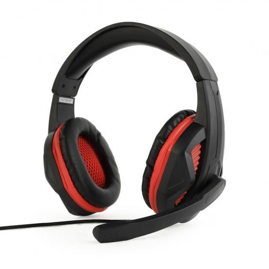 Gembird Gaming słuchawki z mikrofonem i regulacją głośności, czarno czerwone