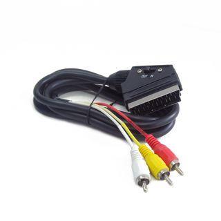 Gembird kabel dwukierunkowy EURO/ 3x RCA, 1.8M