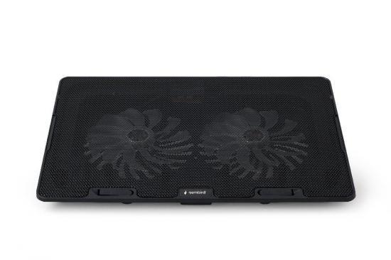 Gembird podstawka do notebooka/laptopa 15,6'', 2x wentylator LED, czarna