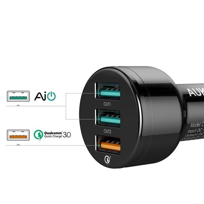 Ładowarka AUKEY CC-T11 42W QC 3.0 + kabel microUSB