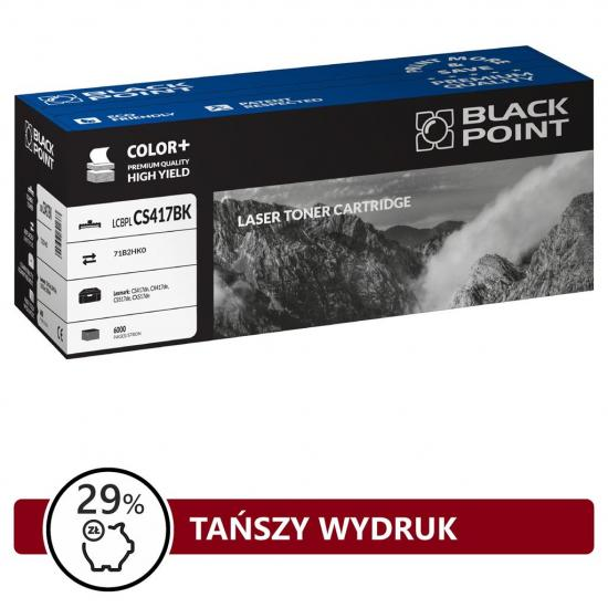 Toner Black Point LCBPLCS417BK   black  6000 str   Lexmark CS417dn, CX417de